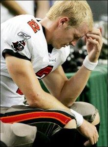 Chris Simms nunca logró recuperarse de aquella lesión del bazo